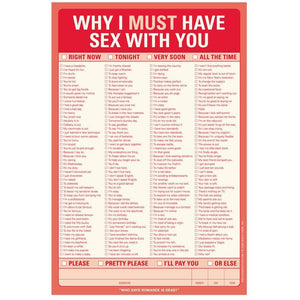 Why I Must Have Sex With You Pad