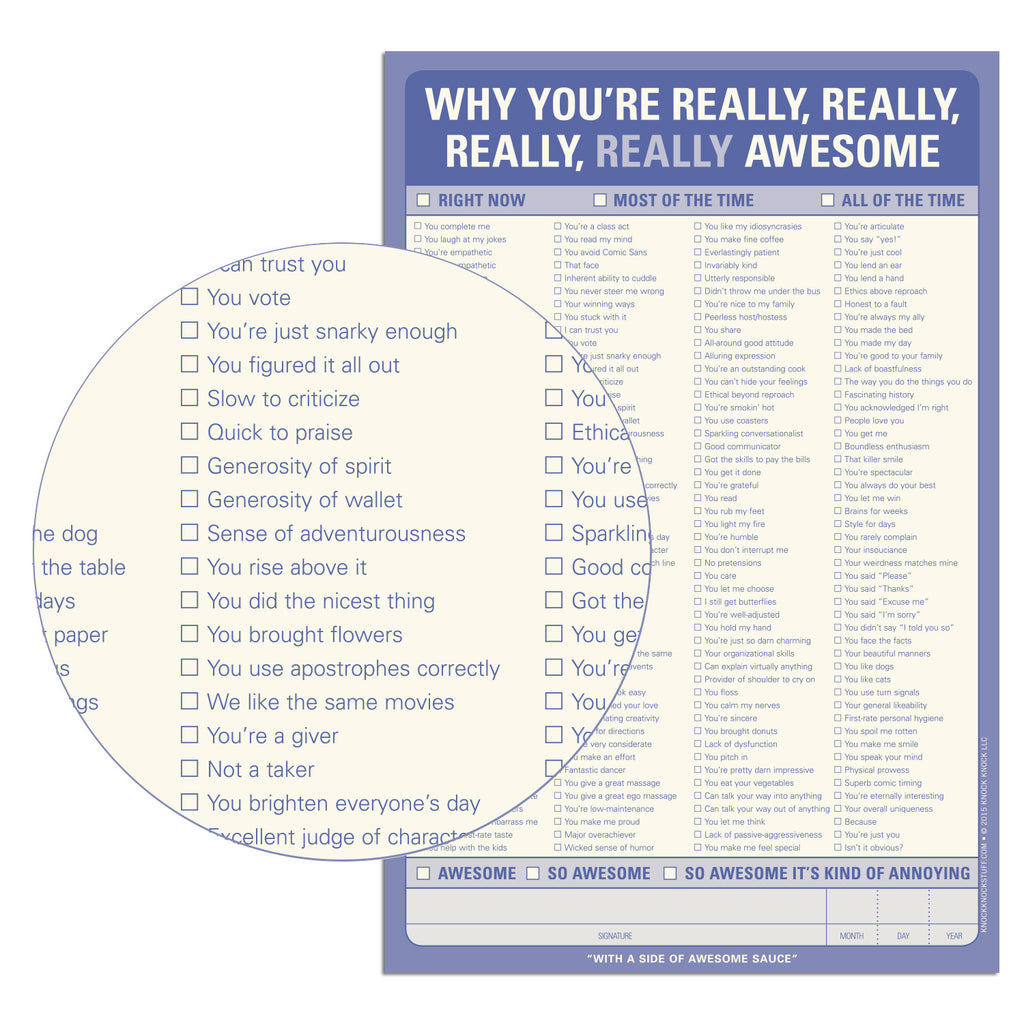 Why You're Really . . . Awesome Pad
