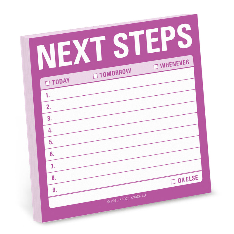 Next Steps Sticky