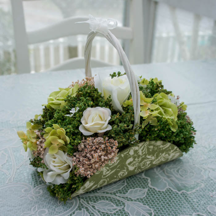 Rose Basket | Green