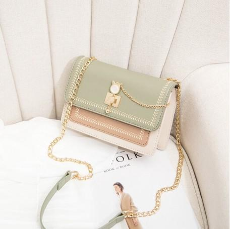 Chain Diagonally Shoulder Bag | Light Green | 正價 (4798392238154)