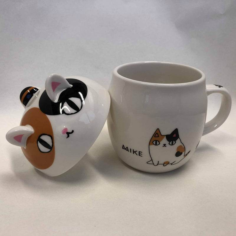 Cat Mug with Lid | White Cat (1721735774242)
