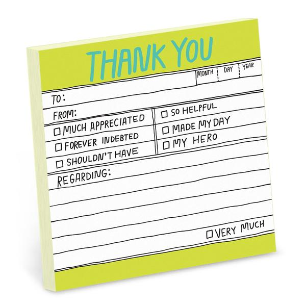 Hand-Lettered Thank You Sticky