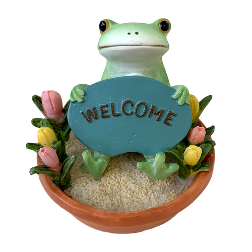 Copeau Display | 70585 | Frog Welcome in Flower Pot (3744483311650)