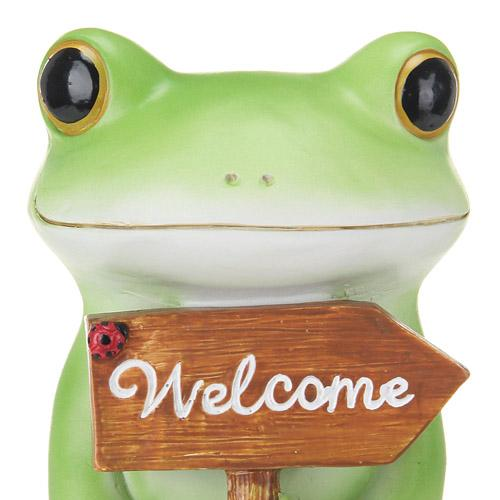 Copeau Display | 71088 | Frog Holding Welcome Board (1375394463778)