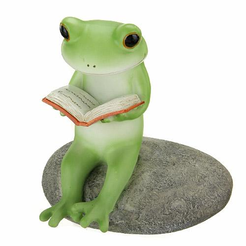 Copeau Display | 71311 | Frog Reading on Rock (638820155426)