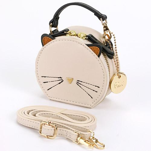 Cat Shoulder Bag | White
