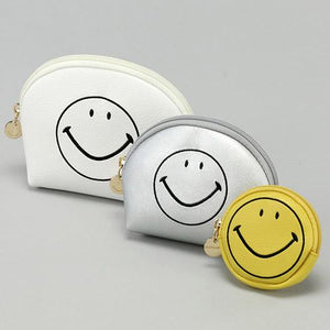 Smiley | Pouch Set of 3 | White