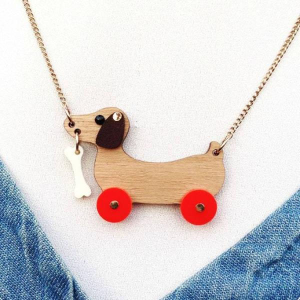 Dog on Wheels Necklace (233686663179)