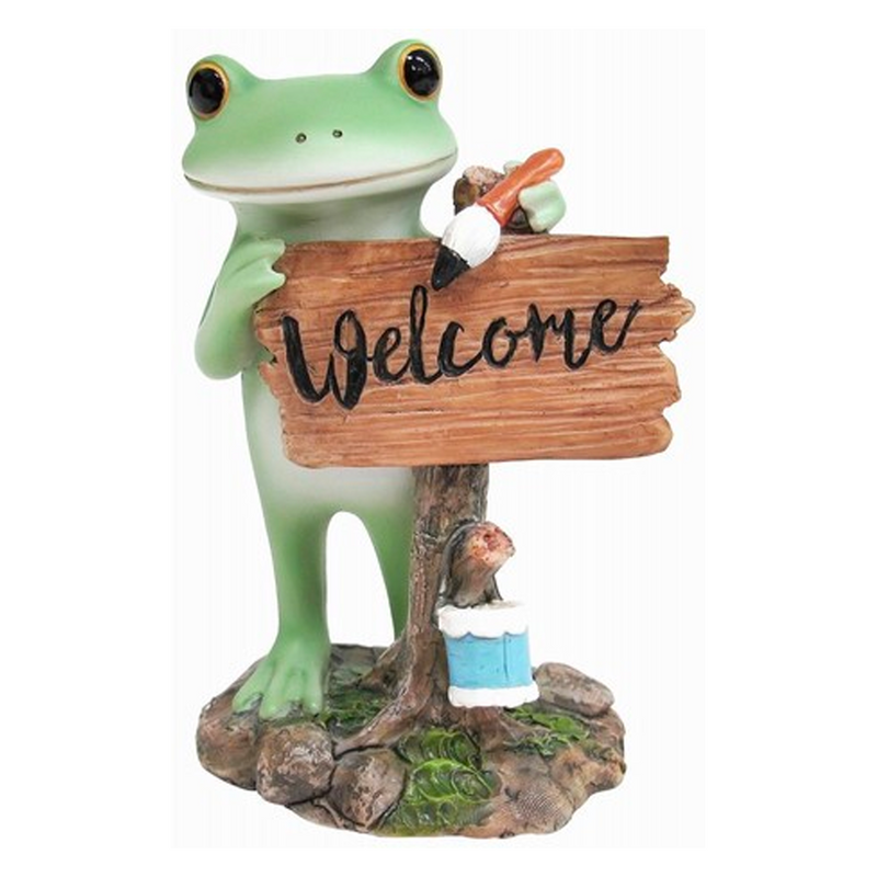 Copeau Display | 72265 | Frog Painting Welcome Board