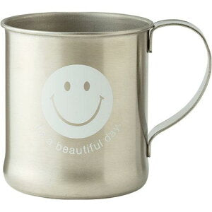 Smiley | Stainless Mug | White