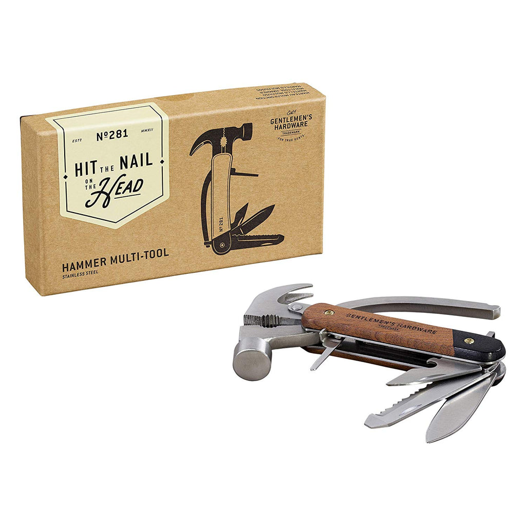 Hammer Multi-Tool Acacia wood & Stainless Steel