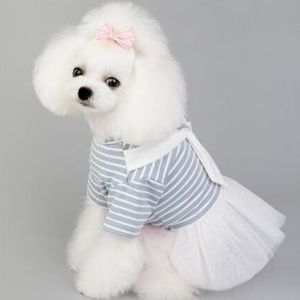 Dog Pet Wear | One-piece Dress | Blue | 正價 (4796853321802)