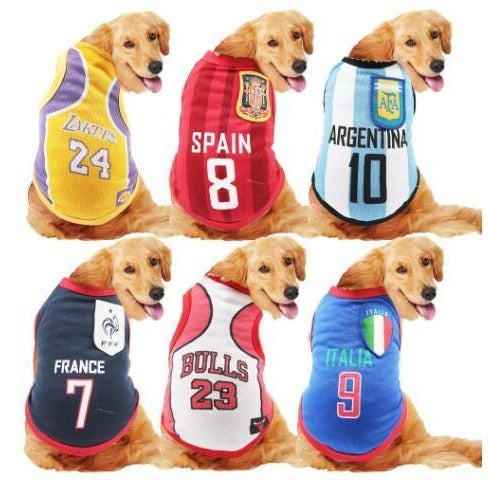 Dog Pet Wear | Basketball shirt 正價 (4796942155850)