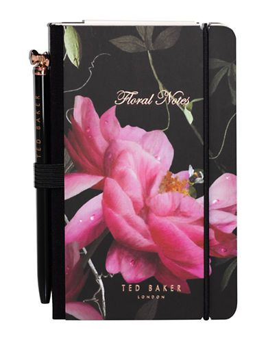 Mini Notebook & Pen | Citrus Bloom Black (4594449612874)