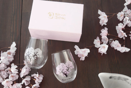 Japan Shun | Cool Sakura Pair Glass | 325ml | 正價