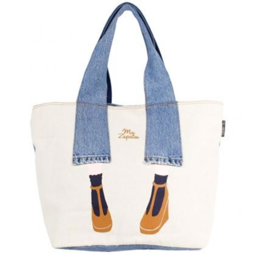 Mis Zapatos | Denim Pants Tote | White | 正價