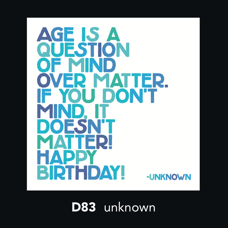 D83 - Age is a question of mind