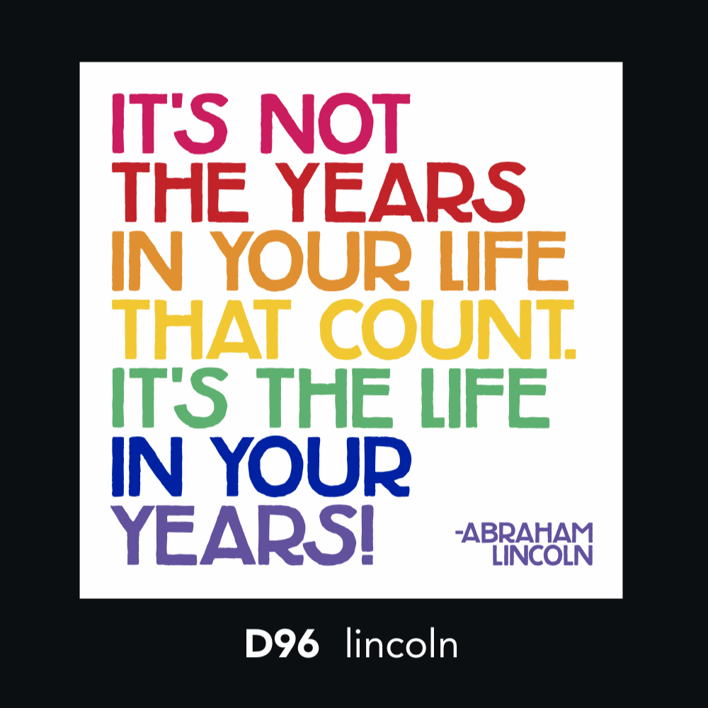 D96 - It's not the year in your life