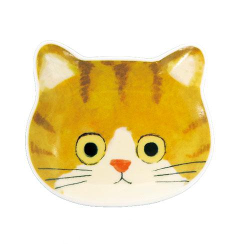 Cat Dip Plate | Brown Flower Cat