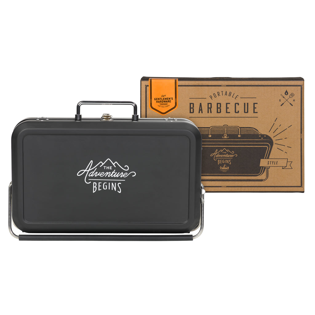 Portable Suitcase Barbecue Small | Black