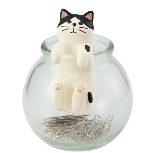 Happy Cat Magnet Clip Jar (4536785305674)