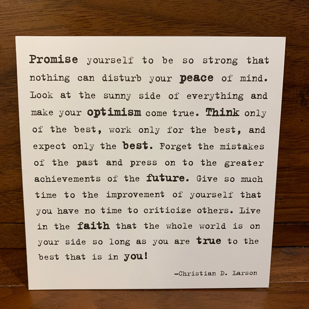 167 - Promise Yourself
