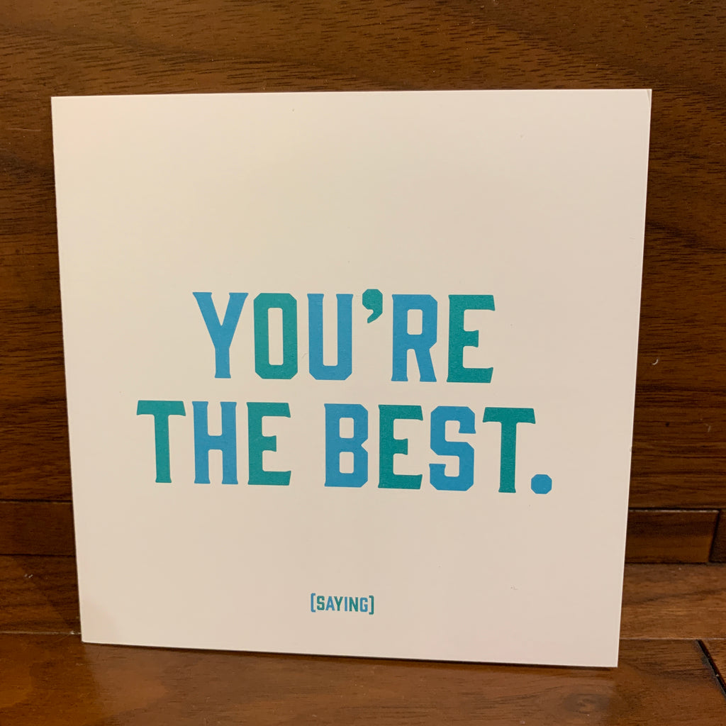 D254 - You're the Best