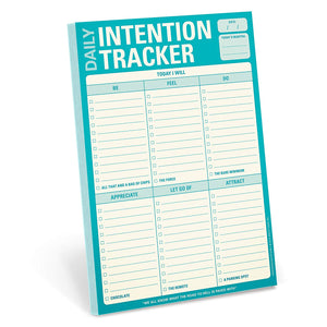 Daily Intention Tracker Pad