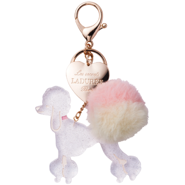 Poodle Key Holder | Blanc