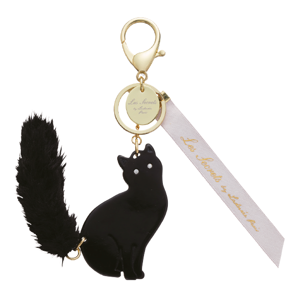 Lovely Cat Bag Charm | Noir