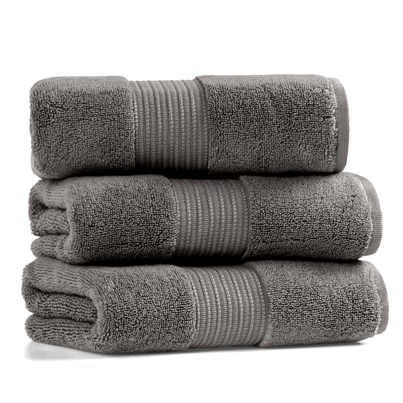 Leila | Towel Set | Dark Gray (3888854171682)