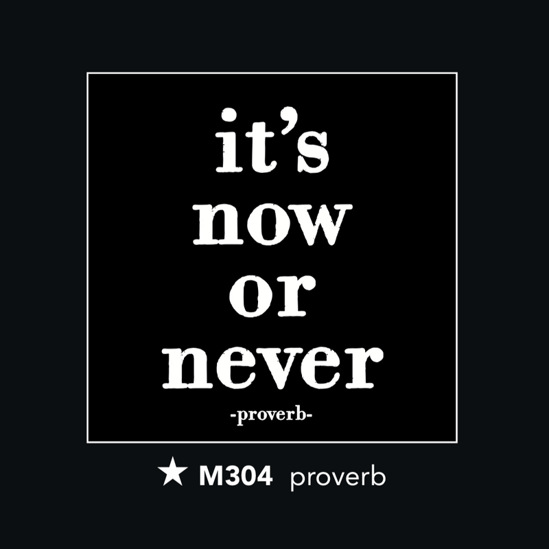M304 Magnet - It's Now or Never