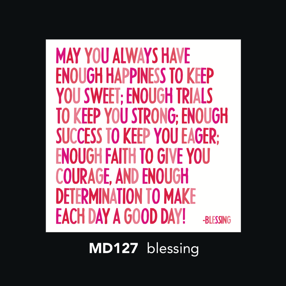 MD127 Magnet - May you always have enough happiness