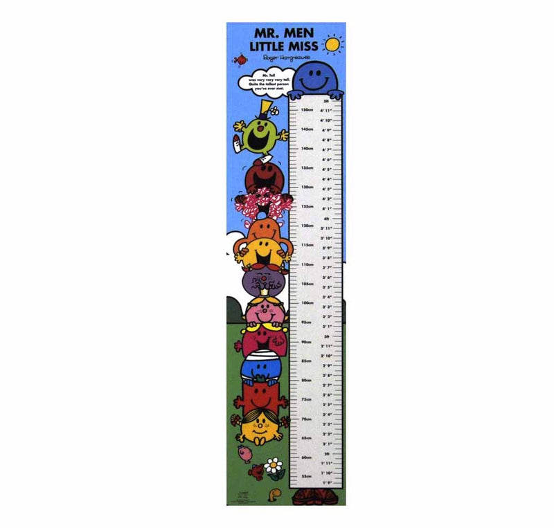 Mr Men & Little Miss Height Chart