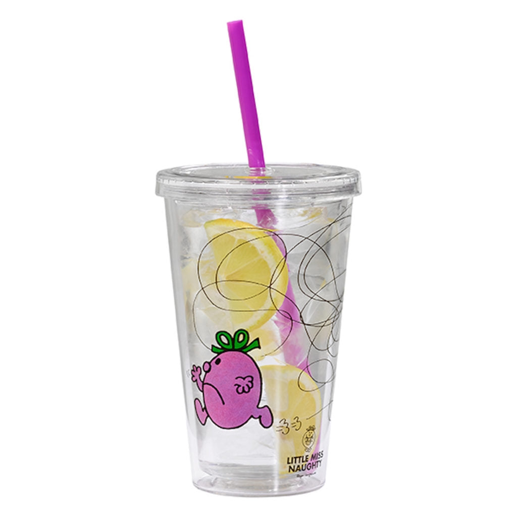 Little Miss Naughty Tumbler with straw