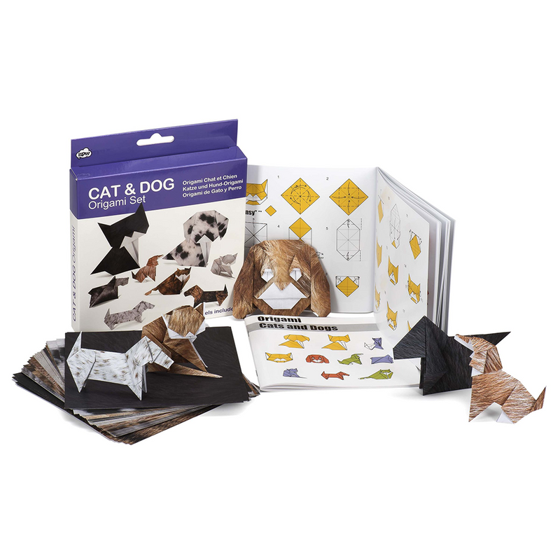 Origami Set - Cat And Dog