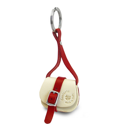 Cow Leather Key Ring | White | 正價 (4794046808138)