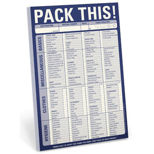Pack This! Pad