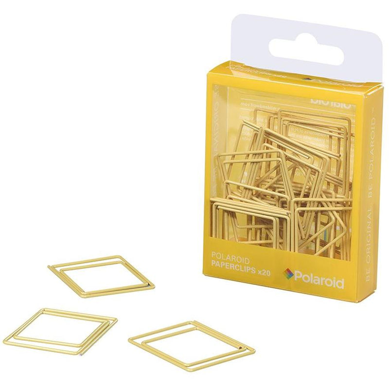 Polaroid Shaped paperclips - Yellow