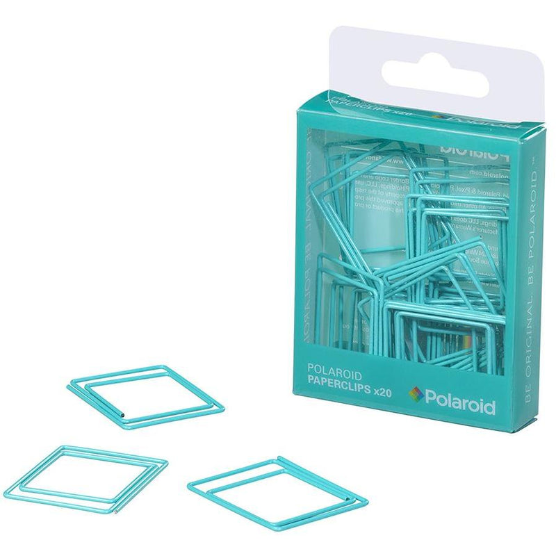 Polaroid shaped paperclips - Turquoise (197177704459)