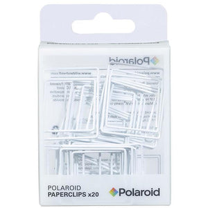Polaroid shaped paperclips - White