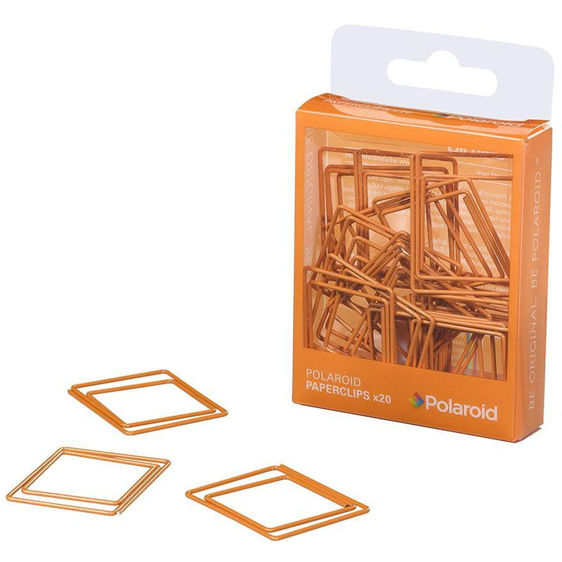 Polaroid shaped paperclips - Orange (197177540619)