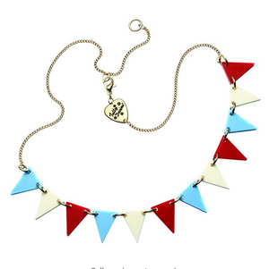 Bunting Necklace | Red White Blue
