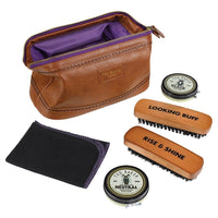 Shoe Shine Kit | Brown Brogue
