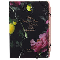 A5 Notebook with Sticky Notes | Citrus Bloom