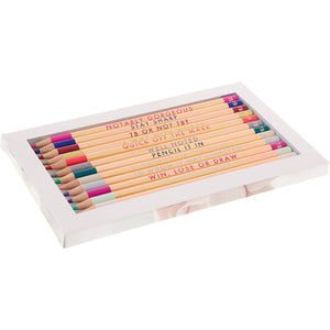 Set of 12 Colouring Pencils | Porcelain Rose