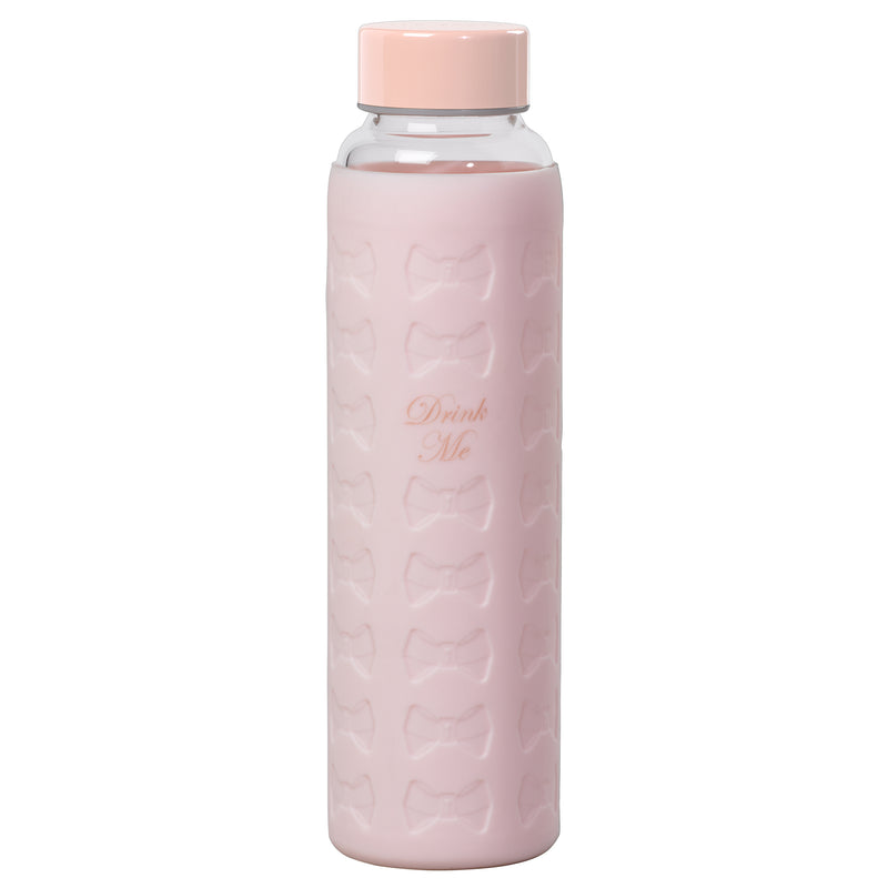 Glass Water Bottle with Silicon Sleeve | Nude