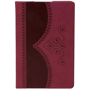 A5 Notebook | Textured Oxblood
