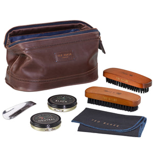 Shoe Shine Kit | Walnut Brown